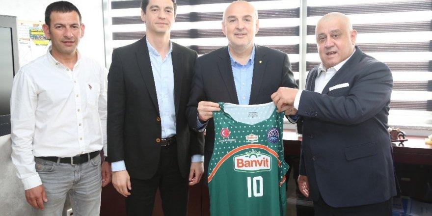 BANVİT BK yönetimi Bandırma Belediye Başkan yardımcılarını ziyaret etti