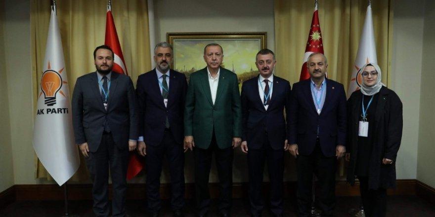 Kocaeli heyeti Cumhurbaşkanı Erdoğan ile bir araya geldi