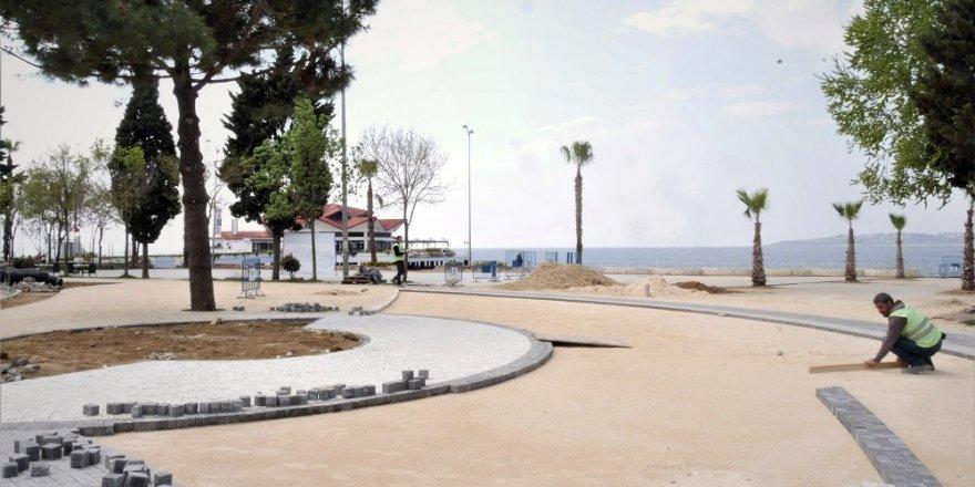 Büyükçekmece sahilleri yaz mevsimine hazırlanıyor