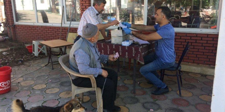 Köylerde köpeklere kuduz aşısı yapıldı