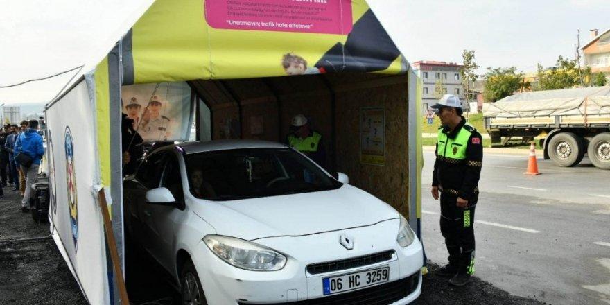 Aydın'da 86 hatalı sürücü 'Yaşam Tüneli'nde ceza yazılmadan bilgilendirildi