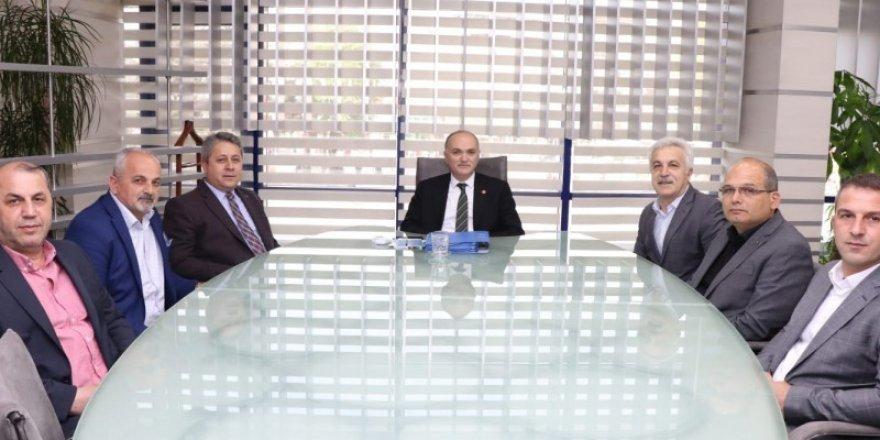 Bölge başkanı Taşlıve yönetiminden Başkan Özlü'ye ziyaret