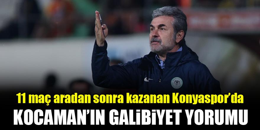 11 maç aradan sonra kazanan Konyaspor'da Kocaman'ın galibiyet yorumu