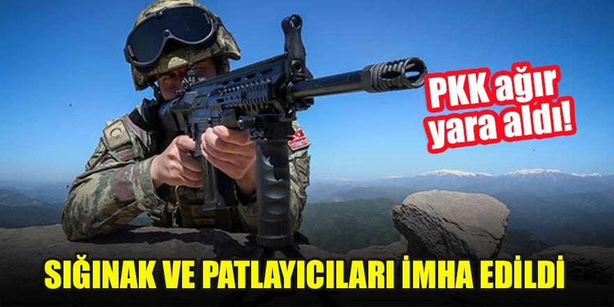 PKK ağır yara aldı! Sığınak ve patlayıcıları imha edildi