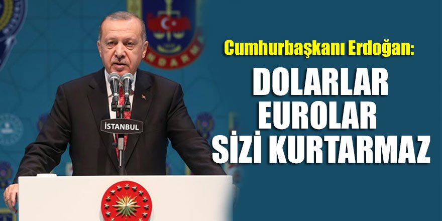Cumhurbaşkanı Erdoğan: Dolarlar, Eurolar sizi kurtarmaz