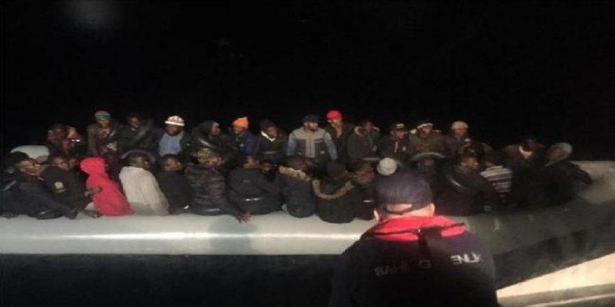 Selçuk'ta 46 kaçak göçmen yakalandı