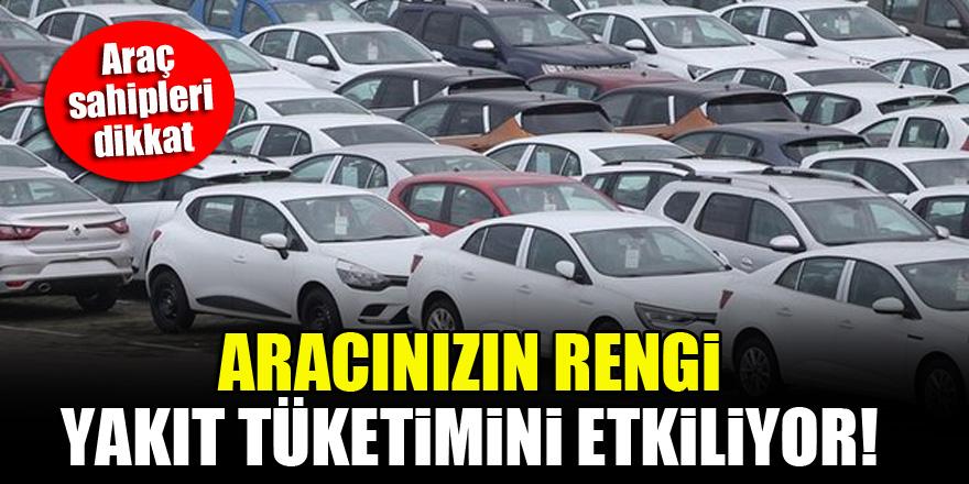 Araç sahipleri dikkat! Aracınızın rengi yakıt tüketimini etkiliyor