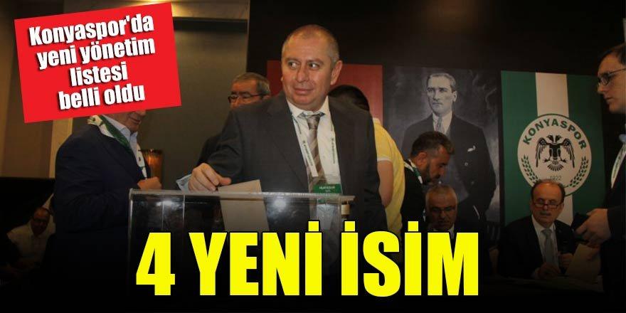 Konyaspor'da yeni yönetim listesi belli oldu! 4 yeni isim