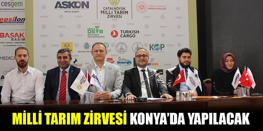 Milli Tarım Zirvesi Konya'da yapılacak