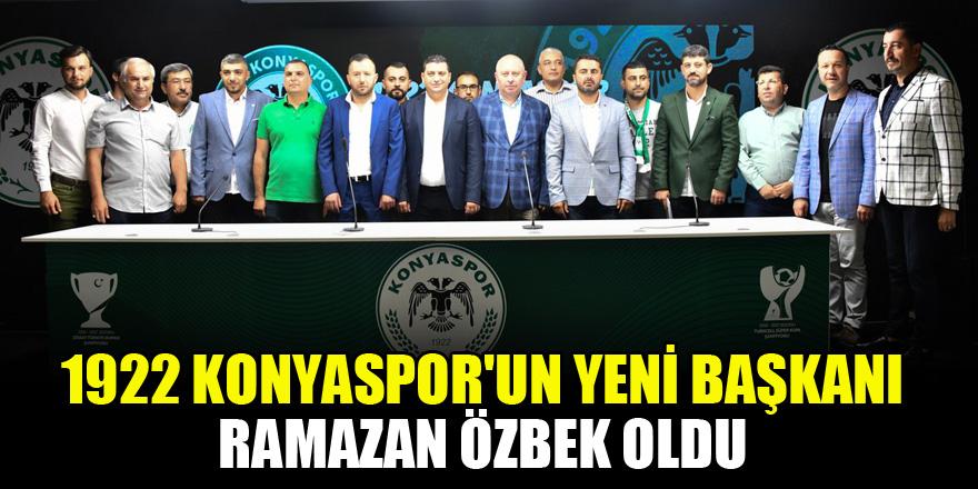 1922 Konyaspor'un yeni başkanı Ramazan Özbek oldu