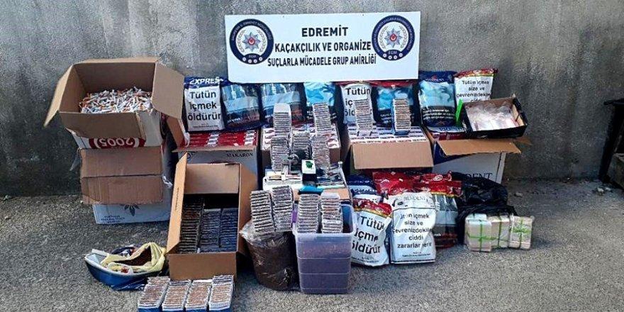 Edremit'te polisten kaçak sigara operasyonu