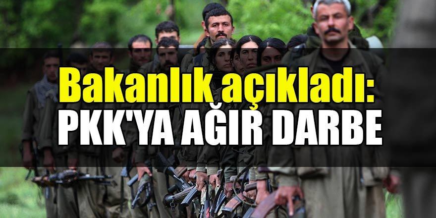Bakanlık açıkladı: PKK'ya ağır darbe