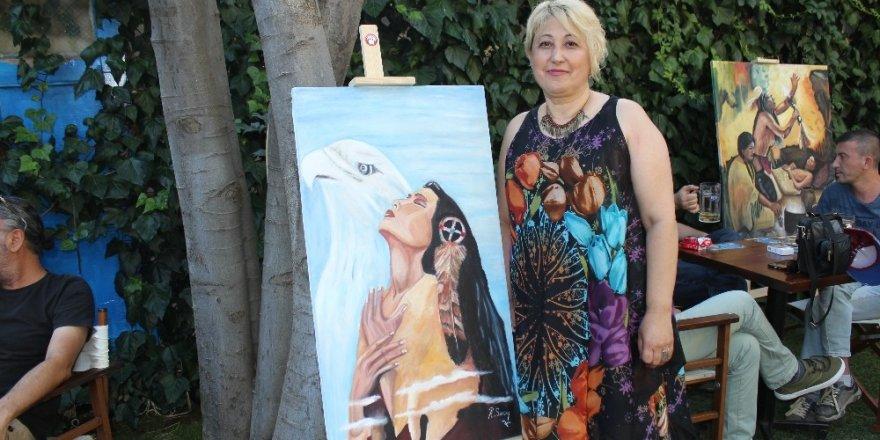 Menteşe'de Geronimo yağlı boya resim sergisi