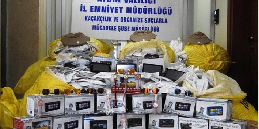 Aydın'da 9 bin 568 adet gümrük kaçağı eşya ele geçirildi