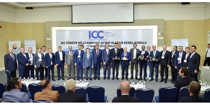 Hisarcıklıoğlu'ndan ICC yarışmasında başarılı olan odalara plaket