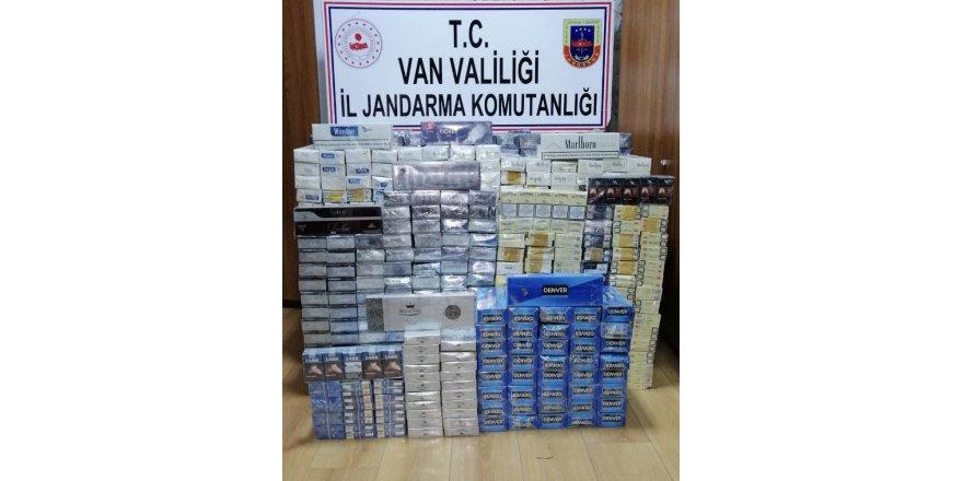 Çaldıran'da 9 bin 118 paket kaçak sigara ele geçirildi