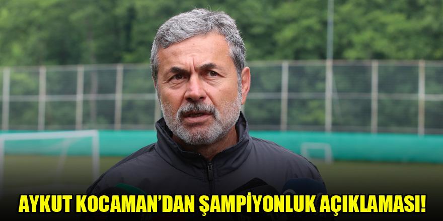Konyaspor Teknik Direktörü Aykut Kocaman'dan şampiyonluk açıklaması!