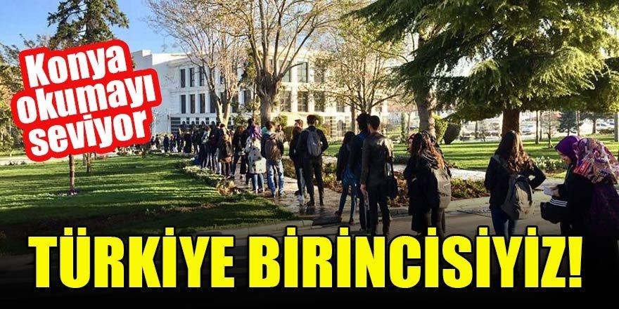 Konya okumayı seviyor  Türkiye birincisiyiz!