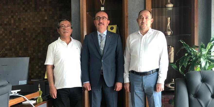 Kavuş ve Pirinç'ten Mustafa Oral'a ziyaret