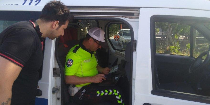 Seydişehir'de sivil giyimli trafik polisi denetim yaptı
