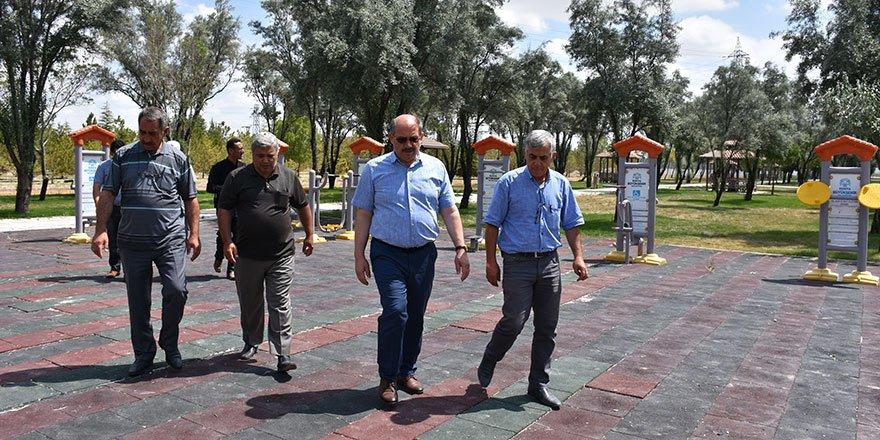 Karapınar'da Ahmet Hamdi Mutlu Parkı çalışmaları devam ediyor