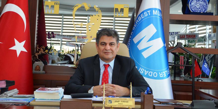 Konya SMMMO Başkanı Abdil Erdal'dan 15 Temmuz mesajı