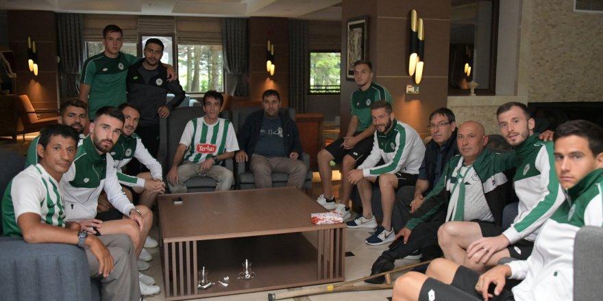 Engelli taraftarlar Konyaspor'u ziyaret etti