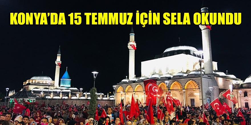 Konya'da 15 Temmuz için sela okundu