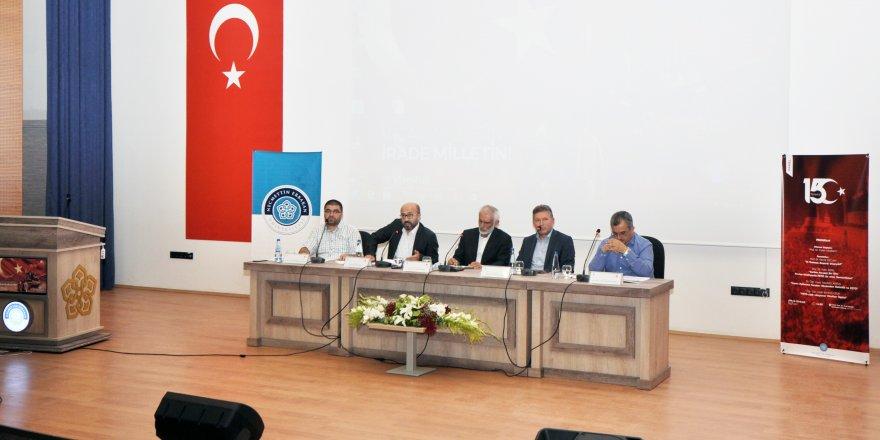 NEÜ'de 15 Temmuz Paneli düzenlendi
