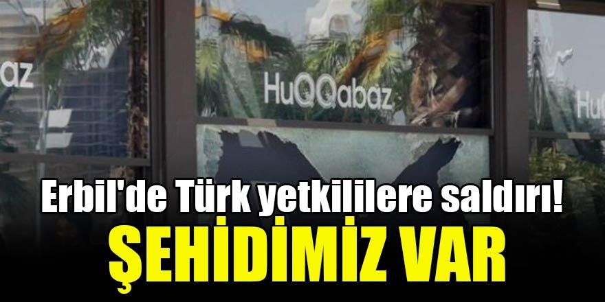 Erbil'de Türk yetkililere saldırı! Şehidimiz var