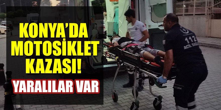 Konya'da motosiklet kazası! Yaralılar var