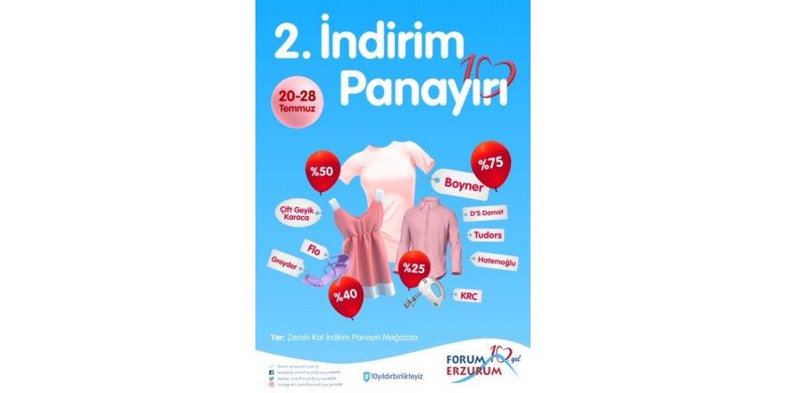 """Forum Erzurum'da """"2. İndirim Panayırı"""" başlıyor"""