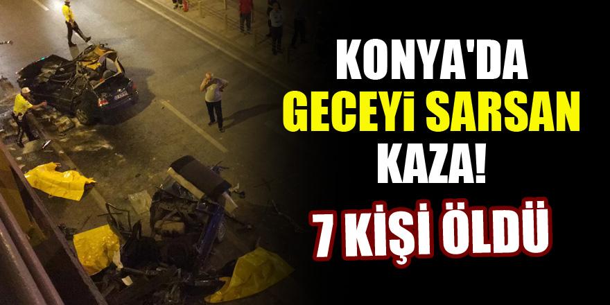 Konya'da geceyi sarsan kaza! 7 ölü