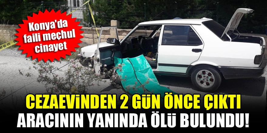 Konya'da faili meçhul cinayet! Cezaevinden 2 gün önce çıktı, aracının yanında ölü bulundu