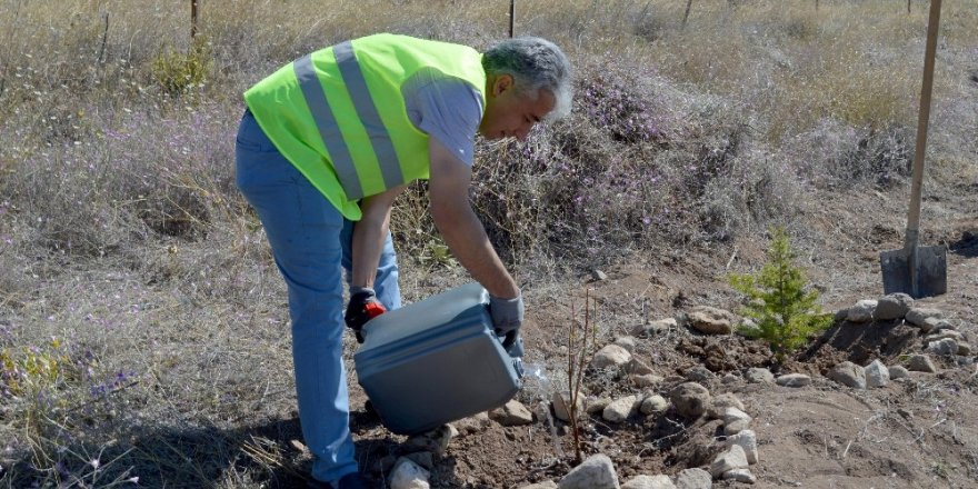 Kayseri Sağlık Müdürlüğü Hatıra Ormanına Sahip Çıkıyor