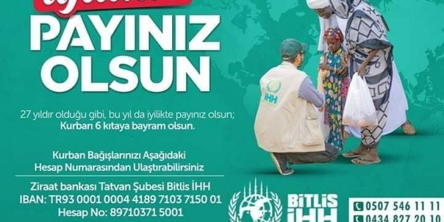 "Bitlis İHH'dan ""kurban bağışı"" çalışması"