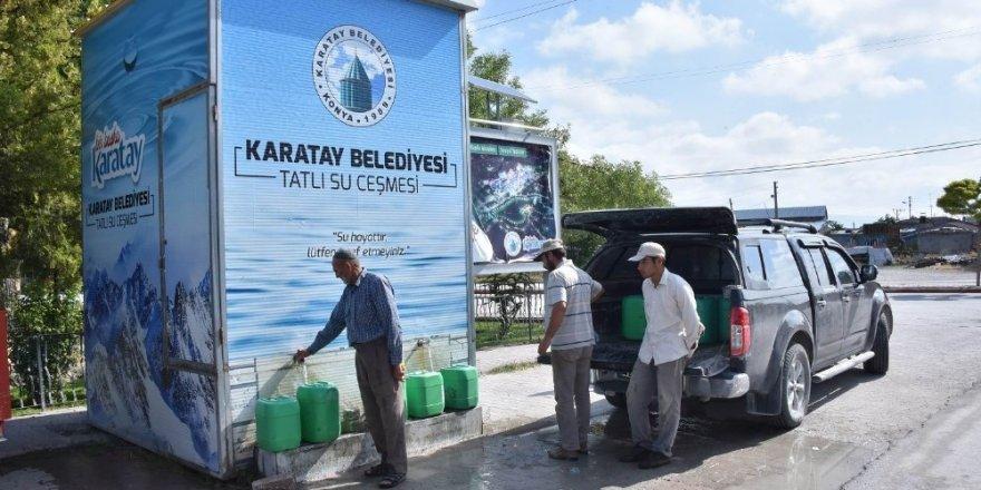 Karatay Belediyesi tatlı su çeşmesi depolarını kendi üretiyor