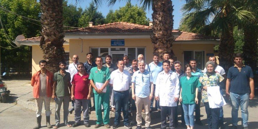 Salihli'de uygulamalı kurban kesim eğitimi