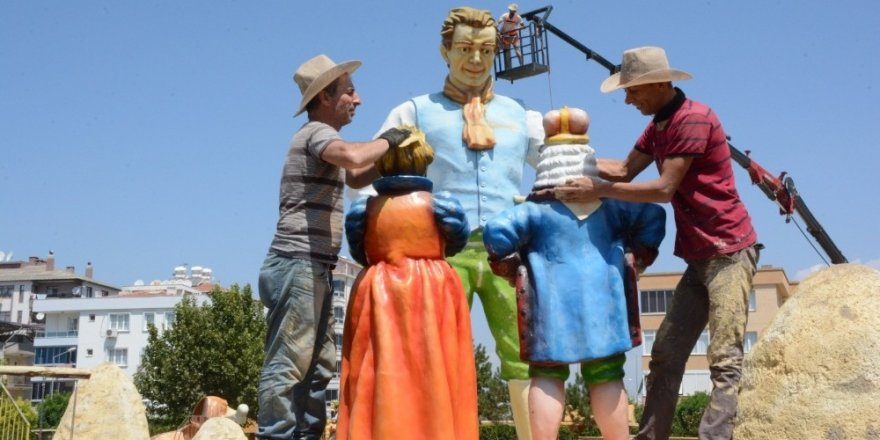 Torbalı'da bakımsız kalan masal parkı tadilata alındı