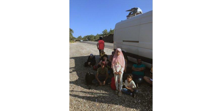 Datça'da 13 göçmen yakalandı