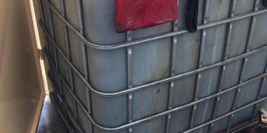 Depodan 2 bin 300 litre kaçak akaryakıt çıktı