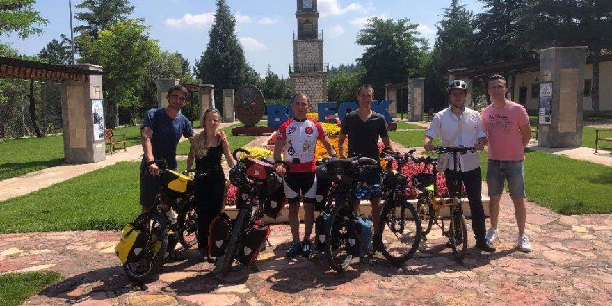 Bilecik'e son 7 yıl içinde 26 ülkeden bisikletli geldi