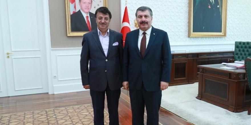 Başkan Türkmenoğlu'ndan Sağlık Bakanı Koca'ya ziyaret