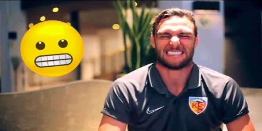 Kayserisporlu futbolcular emojileri gerçek hayata uyarladı