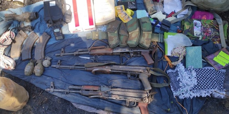 Pençe Harekâtı'nda silah, mühimmat ve yaşam malzemeleri ele geçirildi