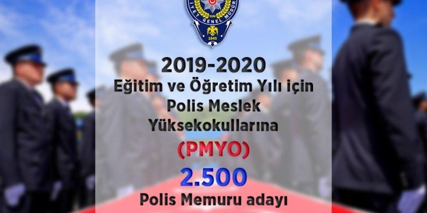 Polis Meslek Yüksekokullarına 2 bin 500 polis memuru adayı alınacak