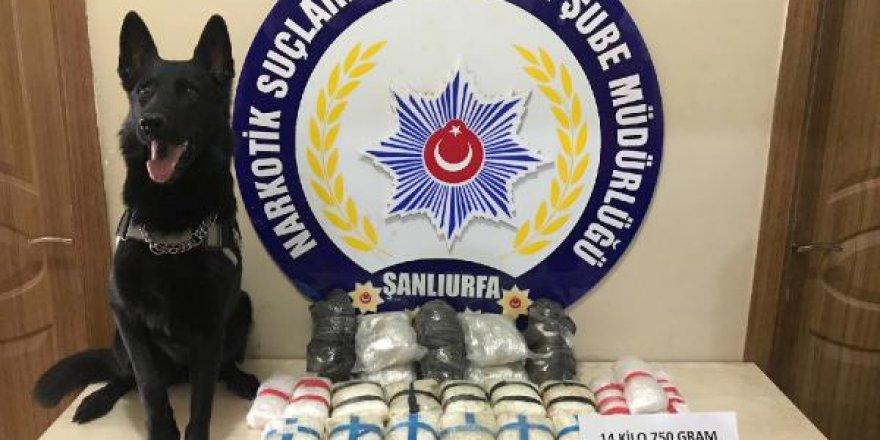 Şanlıurfa'da 14 kilo 750 gram metamfetamin ele geçirildi