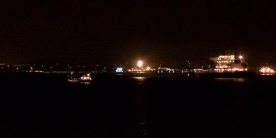 Ahırkapı açıklarında gemi kazası