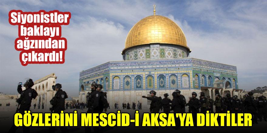Siyonistler baklayı ağzından çıkardı! Gözlerini Mescid-i Aksa'ya diktiler