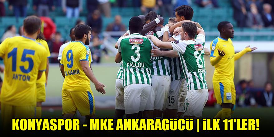 Konyaspor - MKE Ankaragücü | İLK 11'LER!